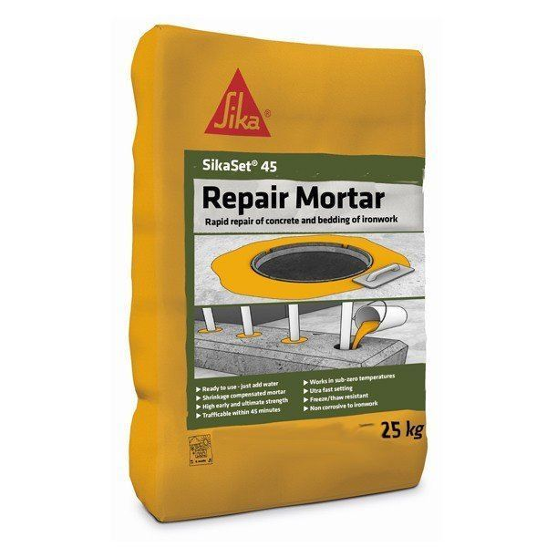 SikaSet 45 Repair Mortar 25kg - Free Next Day Express Delivery!