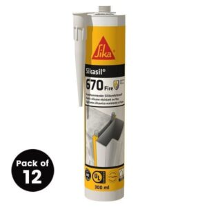 Sikasil 670 Fire 300ml – Free Next Day Express Delivery