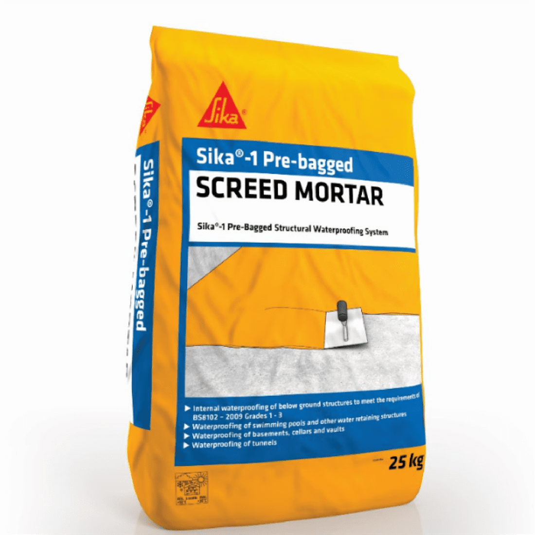 Sika-1 Pre-Bagged Screed Mortar - Free Next Day Express Delivery