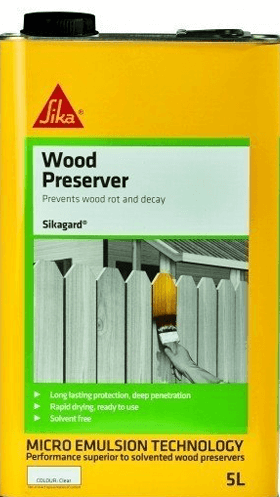 Sikagard Wood Preserver 4 x 5L - Free Next Day Express Delivery!