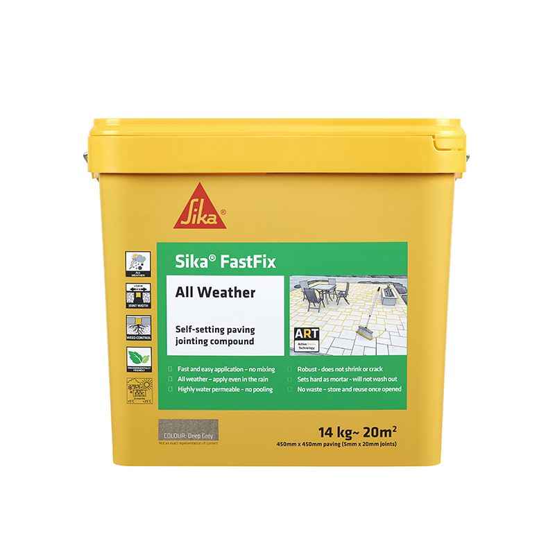 Sika FastFix - All Weather Jointing Compound - Deep Grey - Free Next Day Express Delivery!