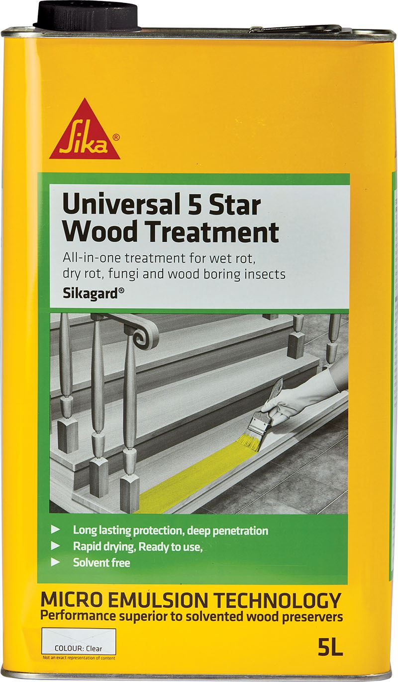 Sika Universal Wood Treatment 5 Star 5L - Free Next Day Express Delivery!