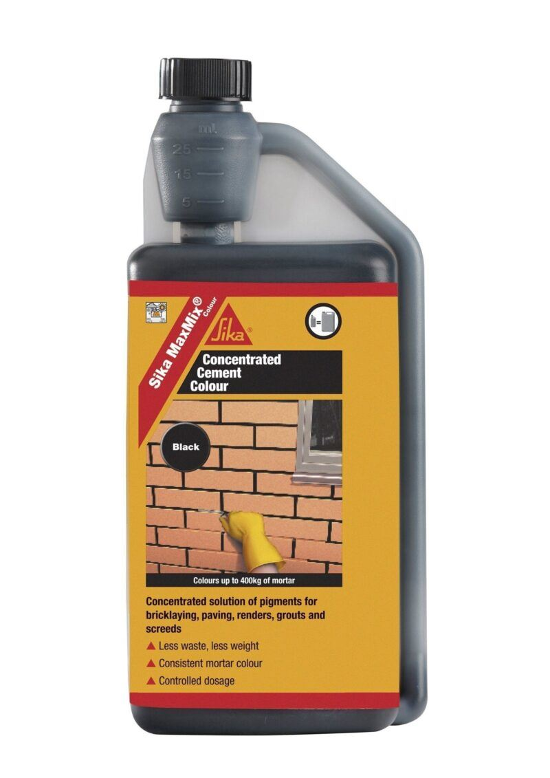 Sika MaxMix Concentrated Cement Colour (Black) 250ml