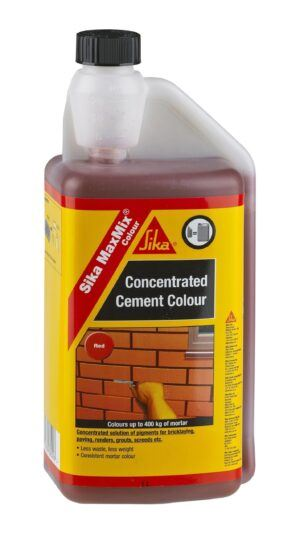 Sika MaxMix Concentrated Cement Colour (Red) 250ml