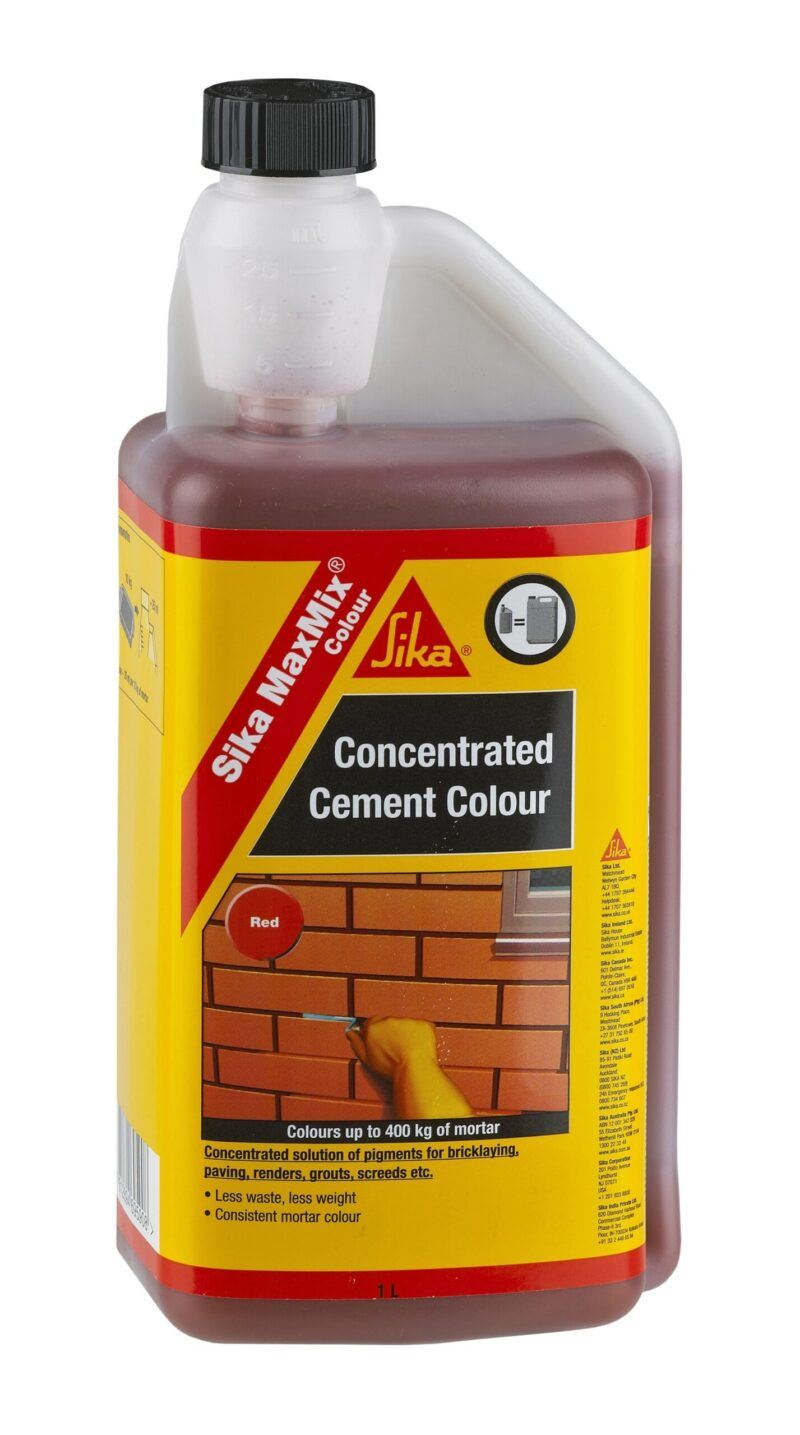 Sika MaxMix Concentrated Cement Colour (Red) 1L