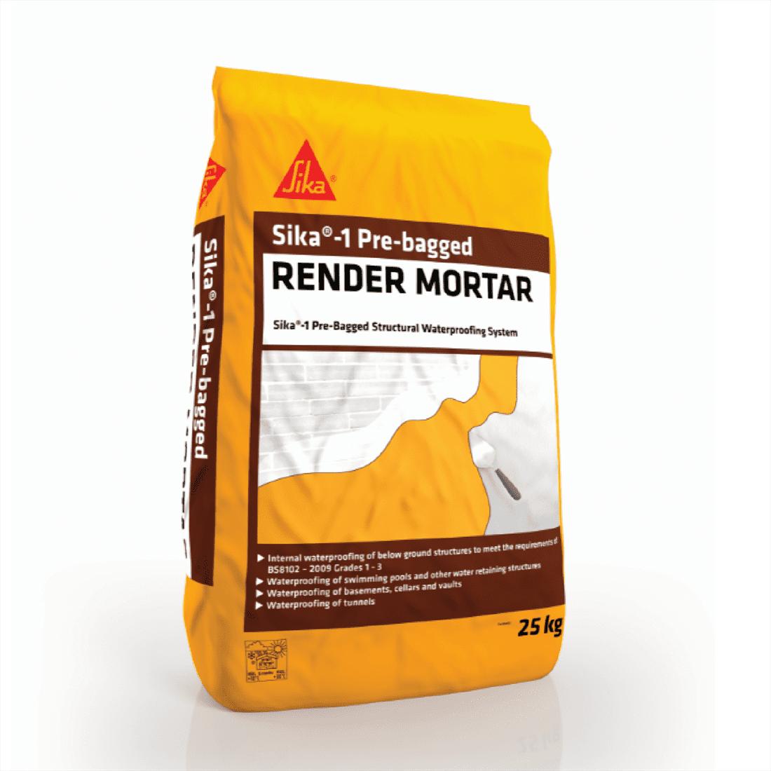 Sika 1 Pre Bagged Render Mortar