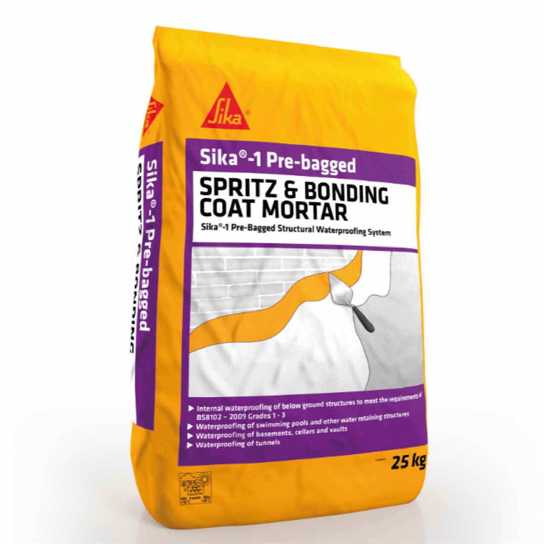 Sika-1 Pre-Bagged Spritz Mortar - Free Next Day Express Delivery